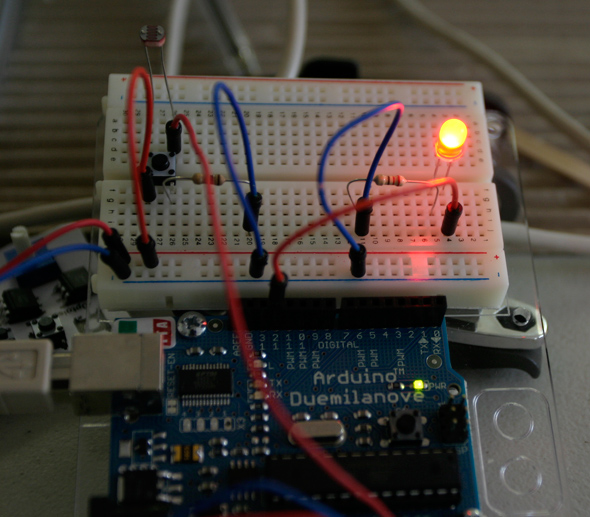 LED and Light Sensor