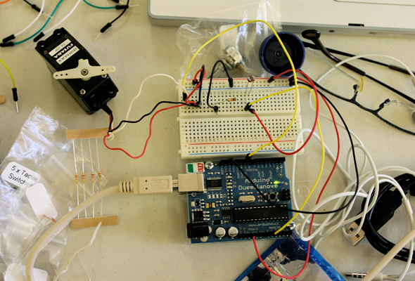 Servo and Light Sensor
